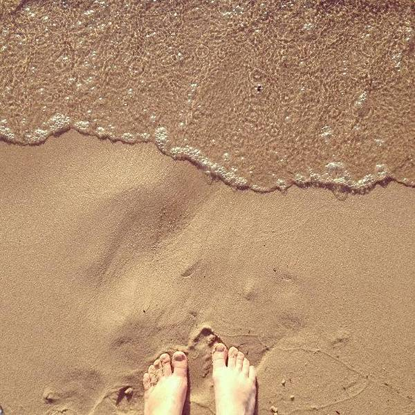 Feet Art Print featuring the photograph Feet on the Beach by Christy Beckwith