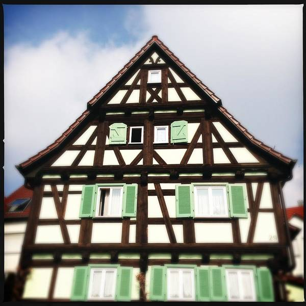 Half-timbered Art Print featuring the photograph Half-timbered house 01 by Matthias Hauser