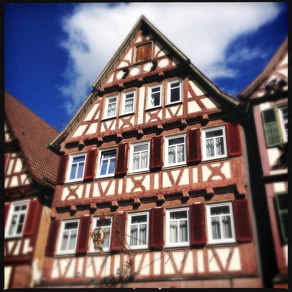 Half-timbered Art Print featuring the photograph Half-timbered house 10 by Matthias Hauser