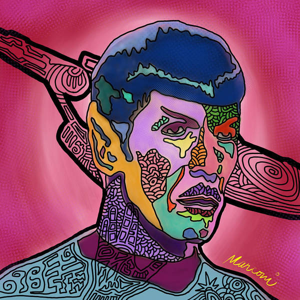 Spock Art Print featuring the digital art He Lived and Prospered by Marconi Calindas
