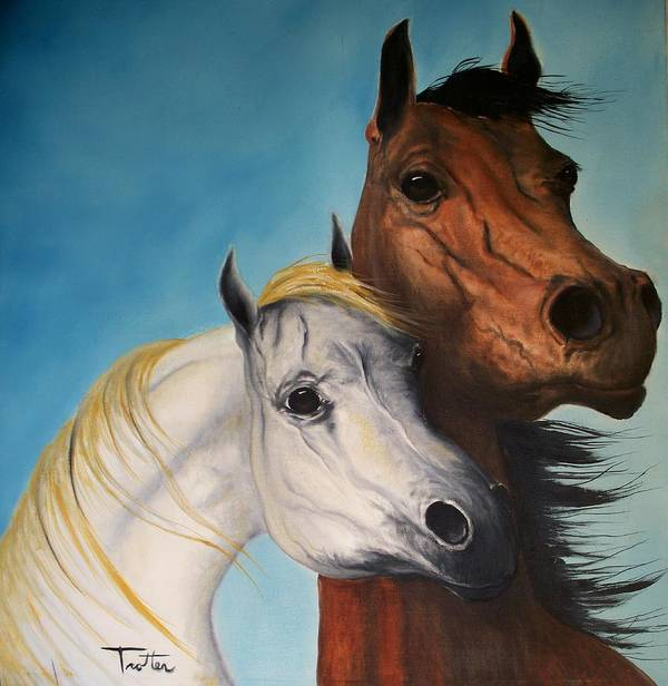 Horse Art Print featuring the painting Horse Lovers by Patrick Trotter