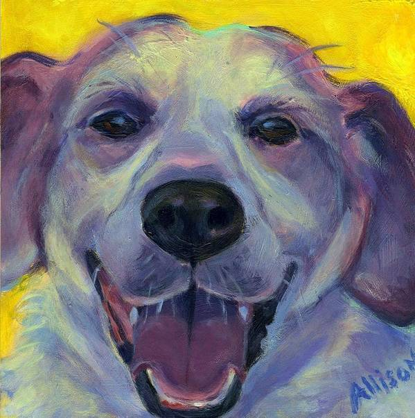 Dog Art Print featuring the painting Howdy by Stephanie Allison