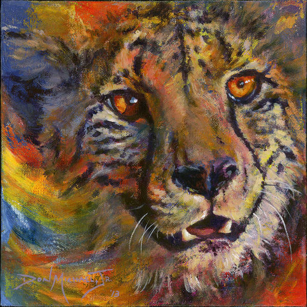 Cheetah Art Print featuring the painting I Spy by Don Michael Jr