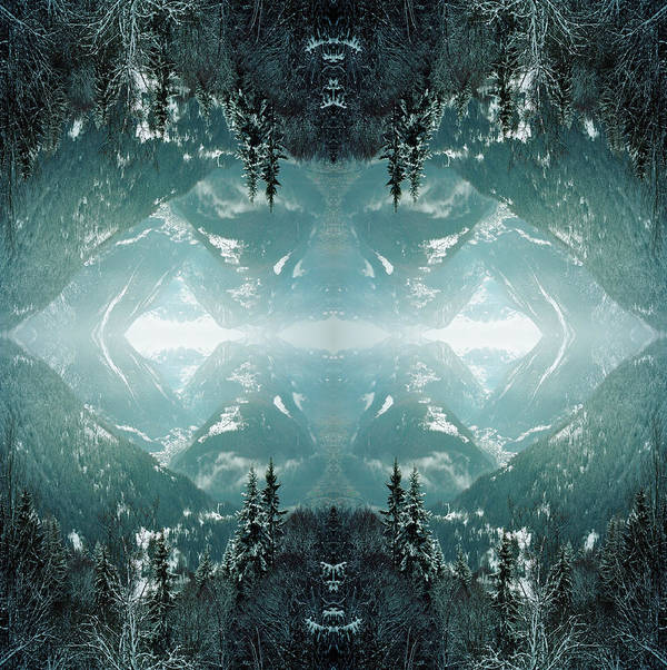 Scenics Art Print featuring the photograph Kaleidoscope Snowy Trees In Mountains by Silvia Otte