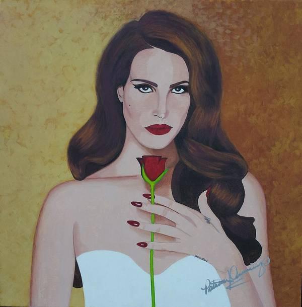 Lana Del Rey Art Print By Patricia Brewer Cummings