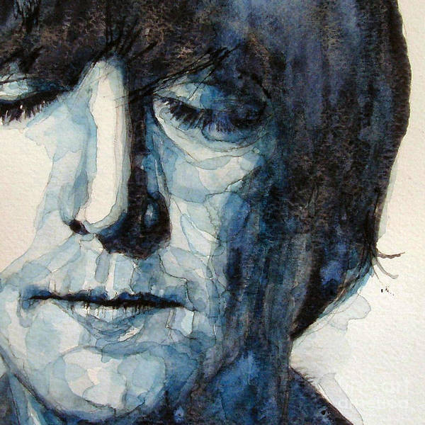 John Lennon The Beatles Art Print featuring the painting Lennon by Paul Lovering