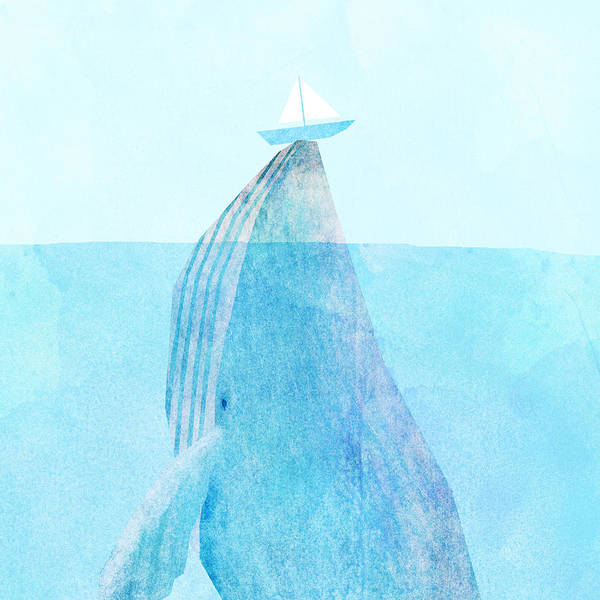Whale Art Print featuring the drawing Lift by Eric Fan