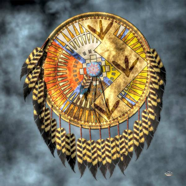 Native American Shield Art Print featuring the digital art Medicine Shield by Daniel Eskridge