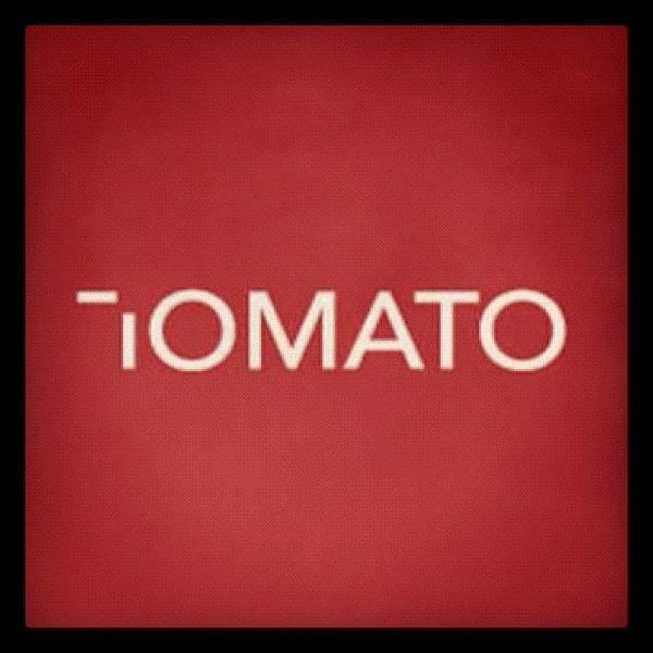 Tomato Art Print featuring the photograph #minimalist #logo #design #roachhd by Katie Ball