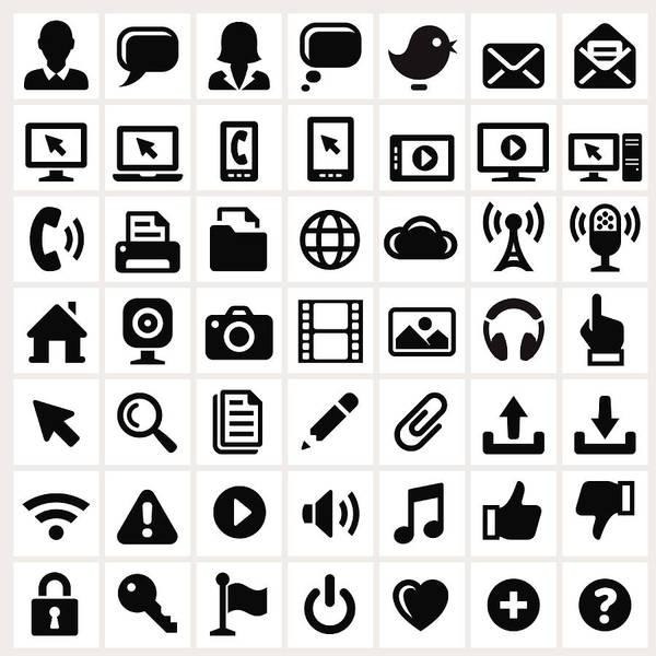 Internet Art Print featuring the digital art Modern Technology Internet Social by Bubaone