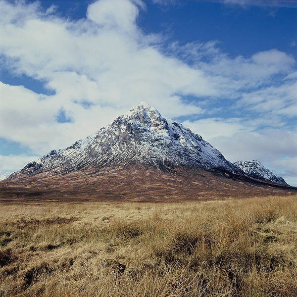Scenics Art Print featuring the photograph Mountain peak with clouds by Heidi Coppock-Beard