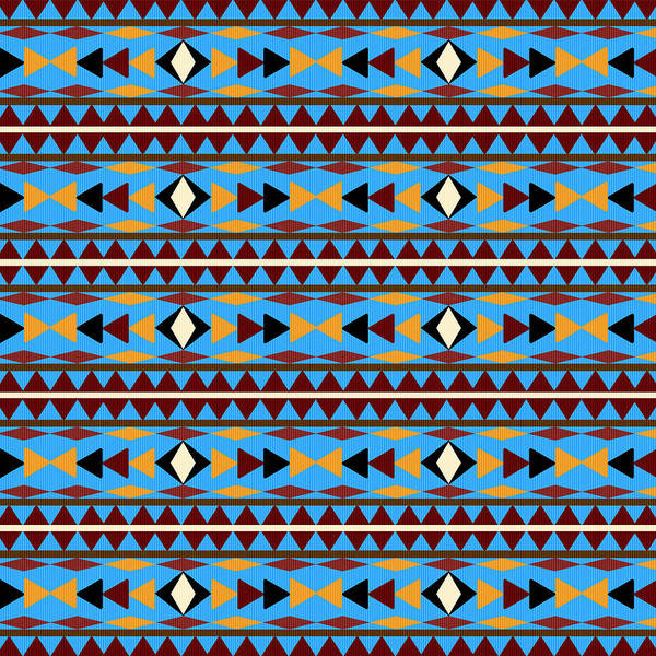 Navajo Art Print featuring the mixed media Navajo Blue Pattern by Christina Rollo