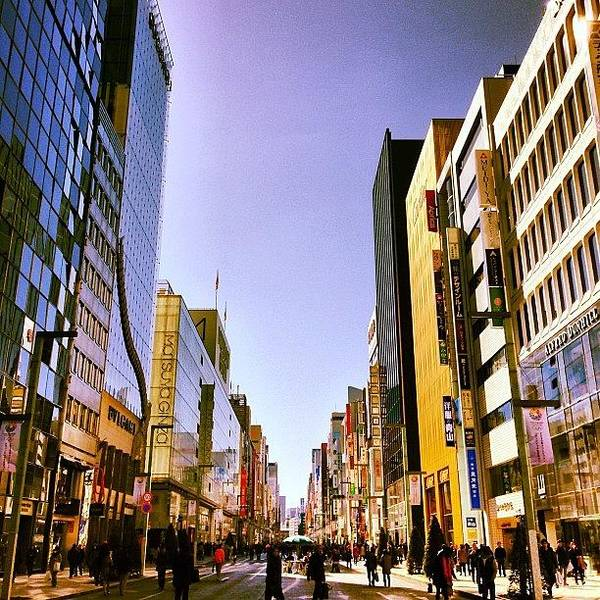 Ginza Art Print featuring the photograph 快晴の銀座 #tokyo #ginza by Tokyo Sanpopo
