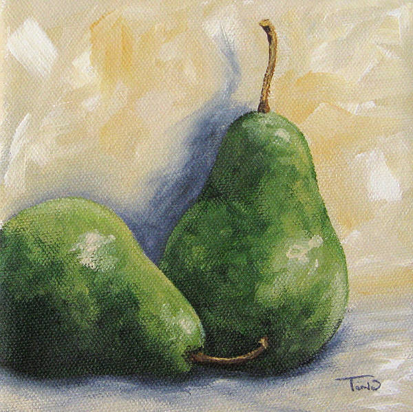 Pear Art Print featuring the painting Pear Duet by Torrie Smiley