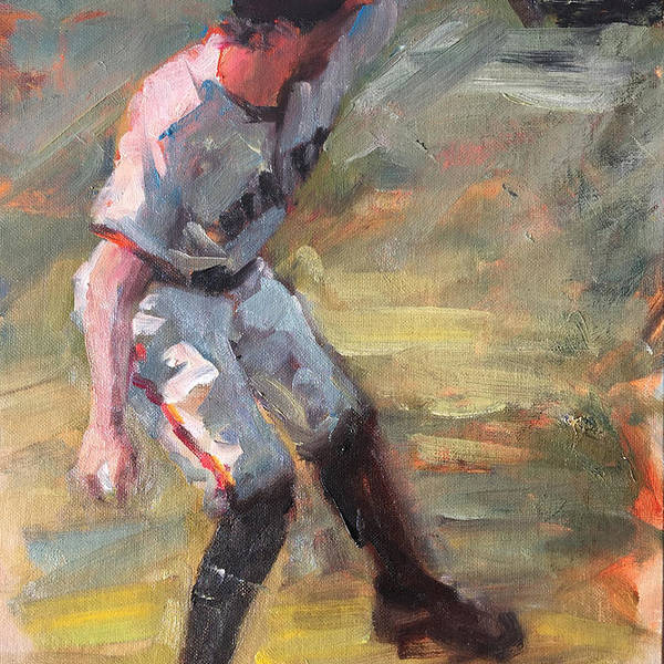 Hunter Pence Sf Giants Painting Baseball Artwork Art Print featuring the painting Pence in Right by Darren Kerr