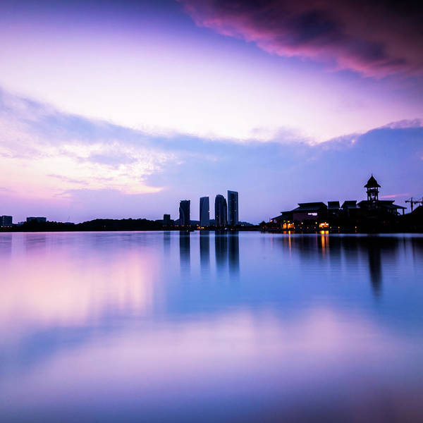 Tranquility Art Print featuring the photograph Pink Sunrise by Azirull Amin Aripin