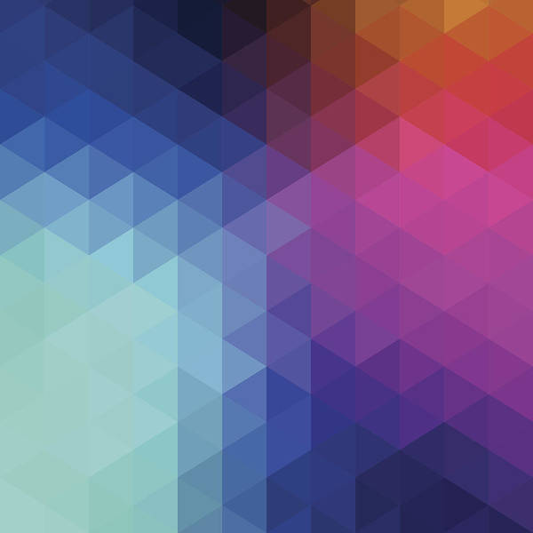 Triangle Shape Art Print featuring the digital art Retro Hexagon Abstract Background by Mustafahacalaki