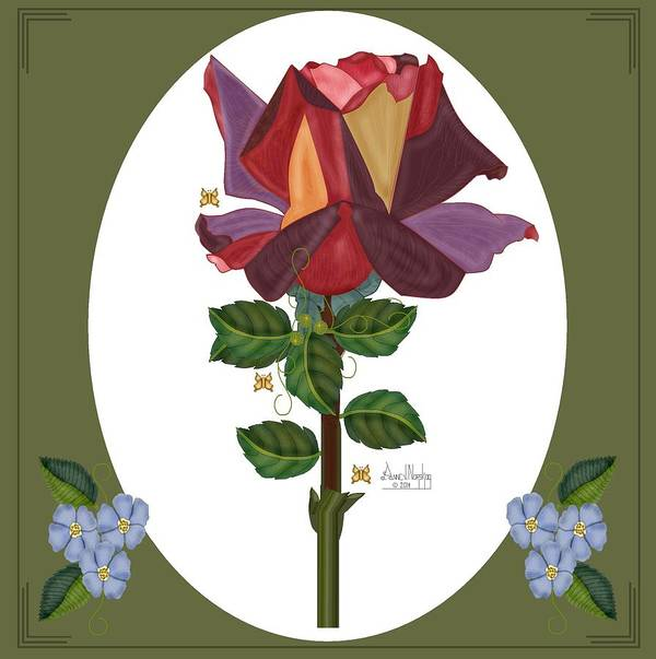 Rose Art Print featuring the painting Rose of a Different Color by Anne Norskog