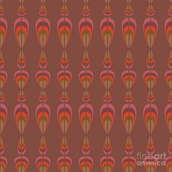 Upholstery Art Print featuring the digital art Seamless Geometric Vintage Wallpaper by Leszek Glasner