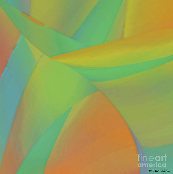 Abstract Art Print featuring the digital art Sherbeterrain by ME Kozdron