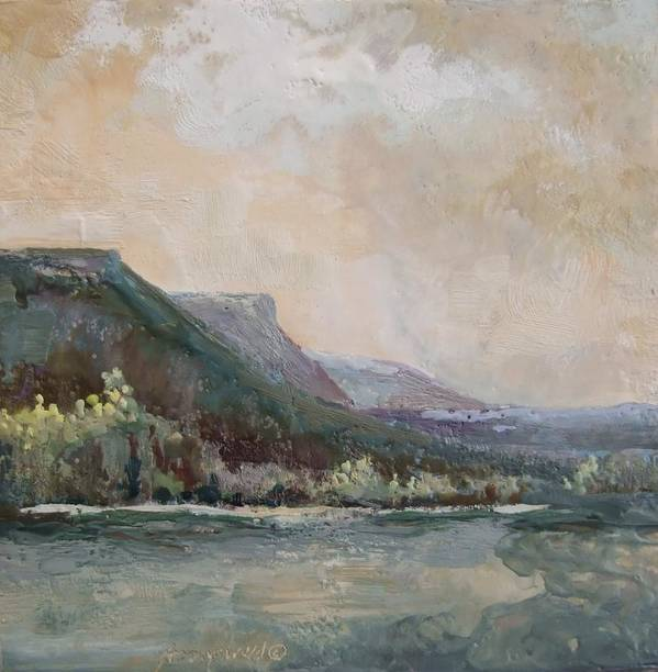 Mountains Art Print featuring the painting Summer Buttes by Ruth Stromswold