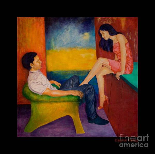 Human-picture-original Art Print featuring the painting Temptation by Dagmar Helbig