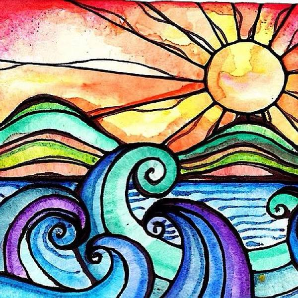 Art Art Print featuring the photograph Tequila Sunrise #aceo #artcard #art by Robin Mead