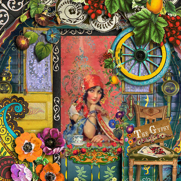 Gypsy Art Print featuring the painting The Gypsy by Laura Botsford