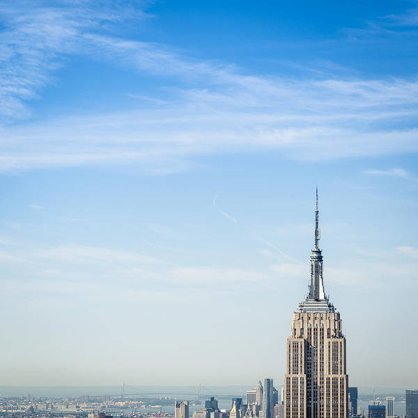 Lower Manhattan Art Print featuring the photograph The New York City Empire State Building by Franckreporter