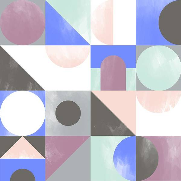 Pattern Art Print featuring the painting Toy Blocks by Laurence Lavallee