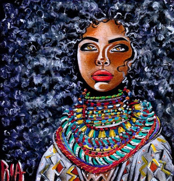 Artbyria Art Print featuring the photograph Untamed Beauty by Artist RiA