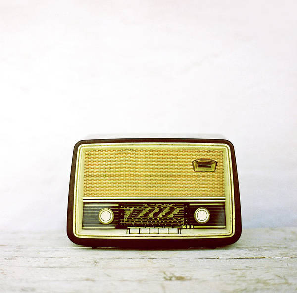 White Background Art Print featuring the photograph Vintage Radio by Thanasis Zovoilis