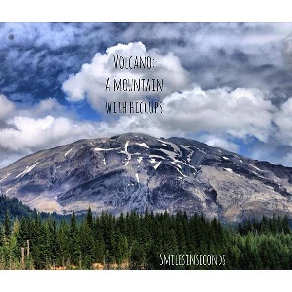 Saying Art Print featuring the photograph Vulcano: A Mountain  with by Smilesinseconds Bryant