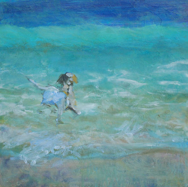 Dog Art Print featuring the painting Waterdog I by Marilyn Muller