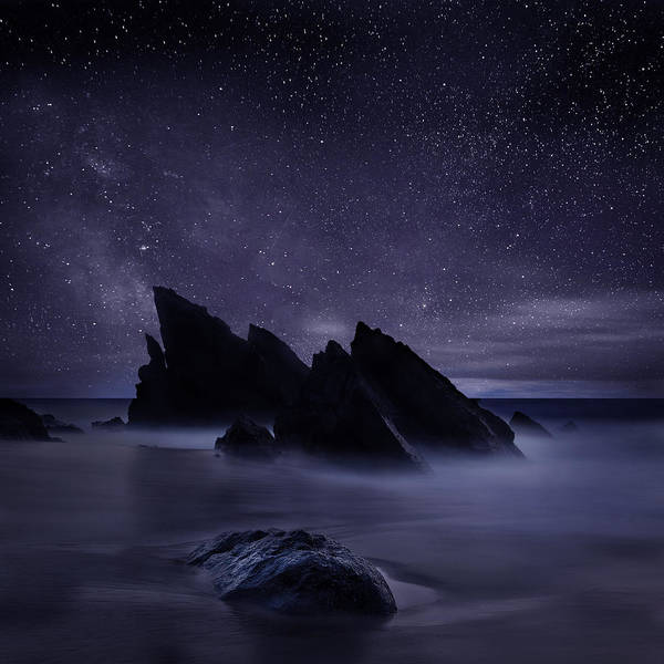 Night Art Print featuring the photograph Whispers of eternity by Jorge Maia