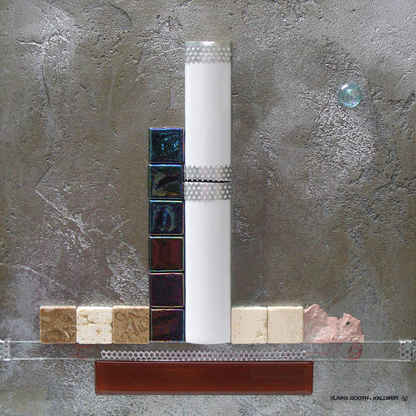 Assemblage Art Print featuring the relief White Tower by Elaine Booth-Kallweit
