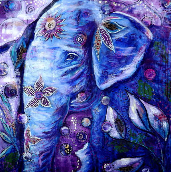 Elephant Painting Art Print featuring the painting You Are Love by Goddess Rockstar