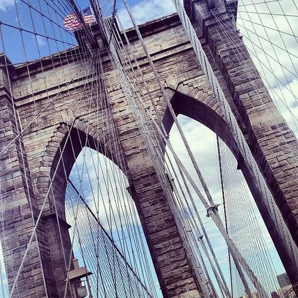 Summer Art Print featuring the photograph Brooklyn Bridge by Randy Lemoine