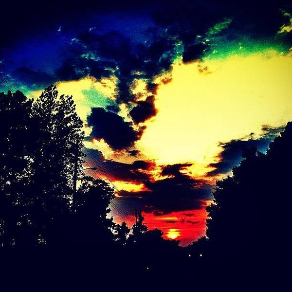 Instaclouds Art Print featuring the photograph Sunset by Katie Williams
