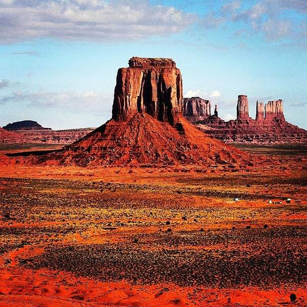 Monumentvalley Art Print featuring the photograph Monument Valley by Luisa Azzolini