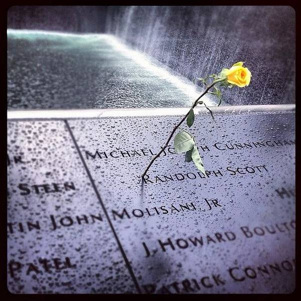 Summer Art Print featuring the photograph 9/11 Memorial by Randy Lemoine