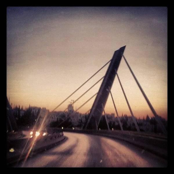 Bridge Art Print featuring the photograph Abdoun Bridge, Jordan - Amman by Abdelrahman Alawwad