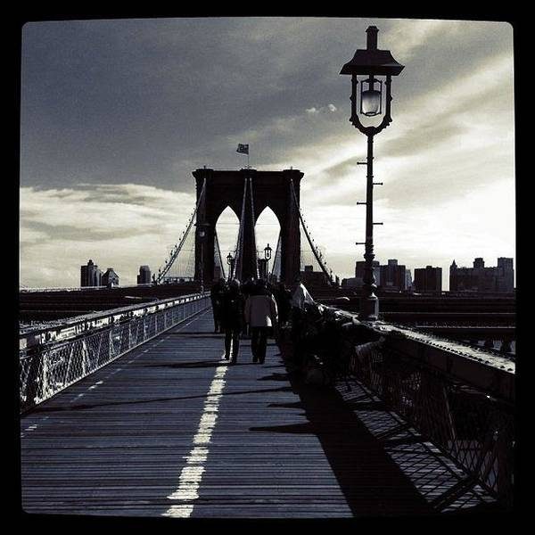 Nyc Art Print featuring the photograph Afternoon on the Brooklyn Bridge by Luke Kingma