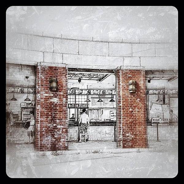 Sketch Art Print featuring the photograph Boardwalk Sketch by Natasha Marco