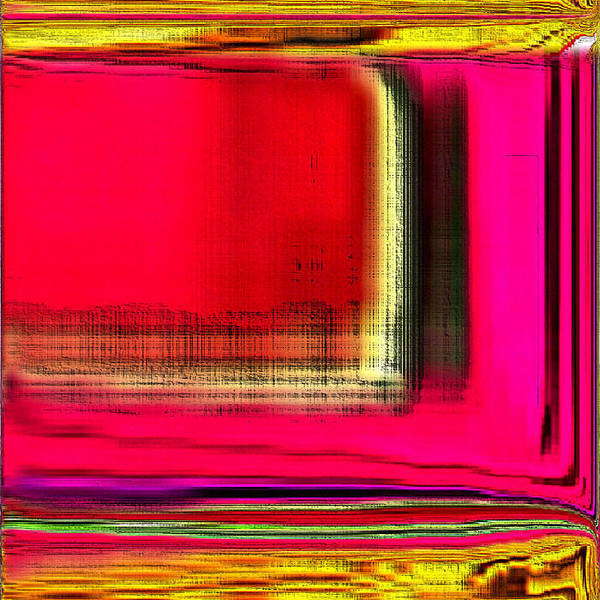 Digital Art Print featuring the digital art Digital Abstract 13 by Ilona Burchard