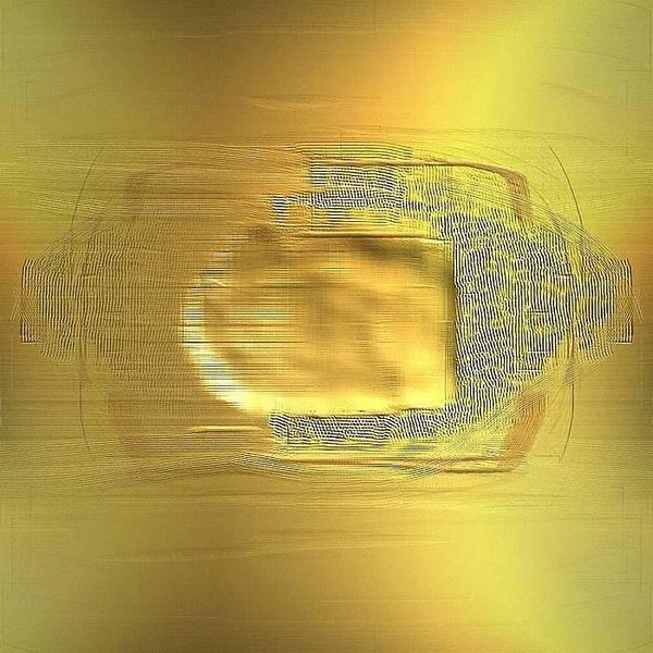 Digital Art Print featuring the digital art Golden Digital Painting by Ilona Burchard