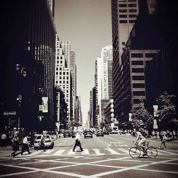 New York City Art Print featuring the photograph Intersection - New York City by Vivienne Gucwa