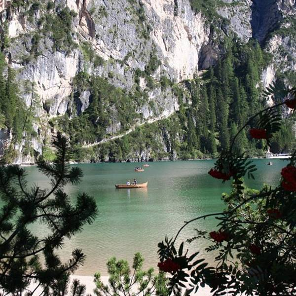 Dolomites Art Print featuring the photograph Lake of Braies by Luisa Azzolini