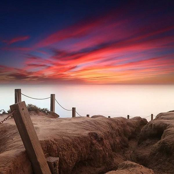 Art Print featuring the photograph Long Exposure Sunset Taken From The by Larry Marshall
