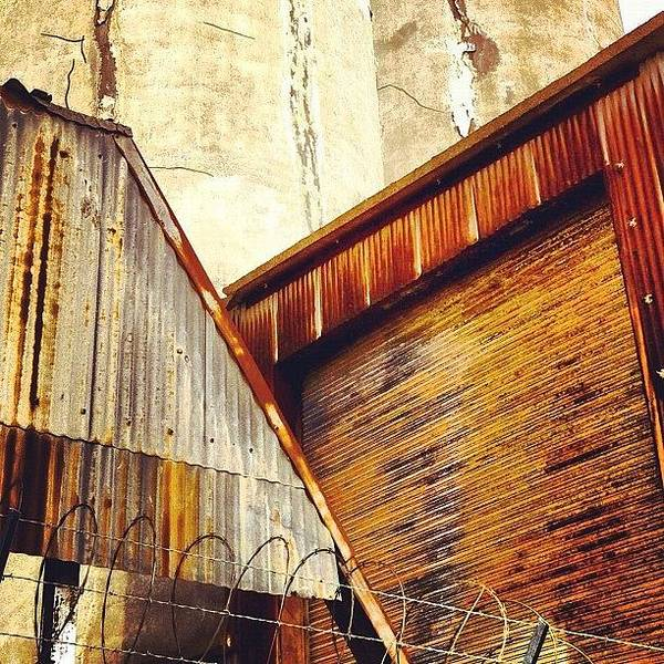 Industrial Art Print featuring the photograph Looking Up by Julie Gebhardt